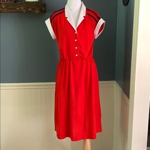 NWT Retro Vintage JC Penney Red Knit Dress 14P